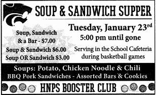HNPS Booster Club Soup & Sandwich Supper