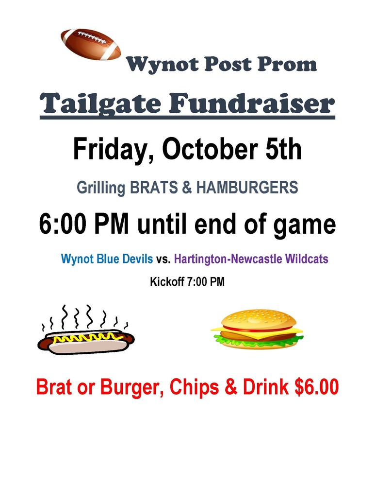 Wynot Post Prom Tailgate Fundraiser