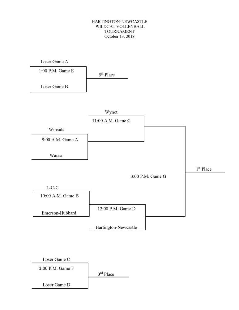 HNS Volleyball Tournament Bracket, October 13