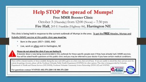 HELP STOP THE SPREAD OF THE MUMPS