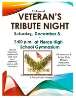 Veteran's Tribute Night-December 8