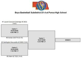 Boys D1-4 Subdistrict Basketball