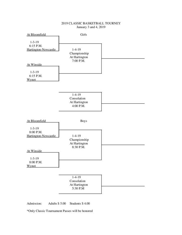 Classic Basketball Tournament Bracket